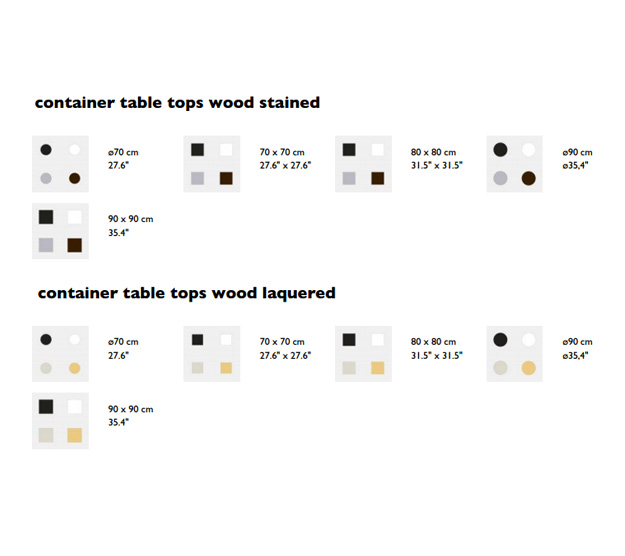 moooi container table 7030 dimensions