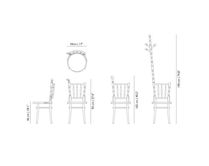 moooi extension chair dimensions