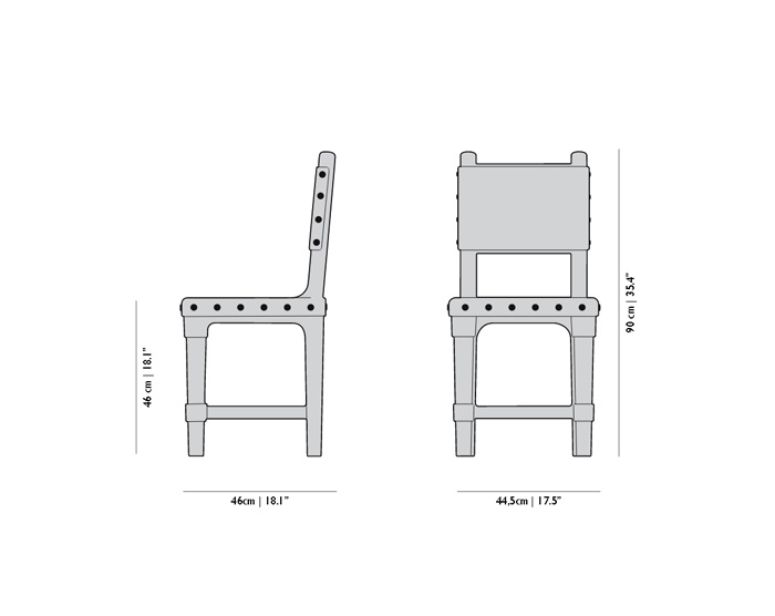 moooi gothic chair dimensions