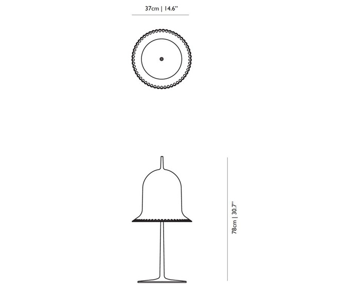 moooi lolita table lamp dimensions