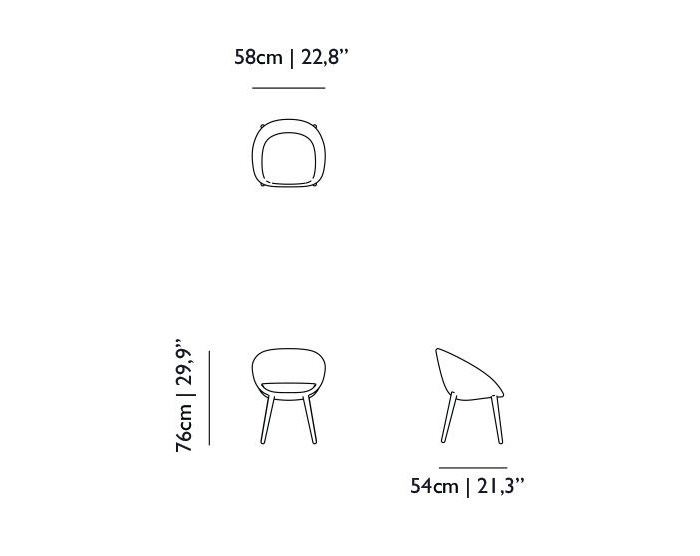 moooi love chair dimensions
