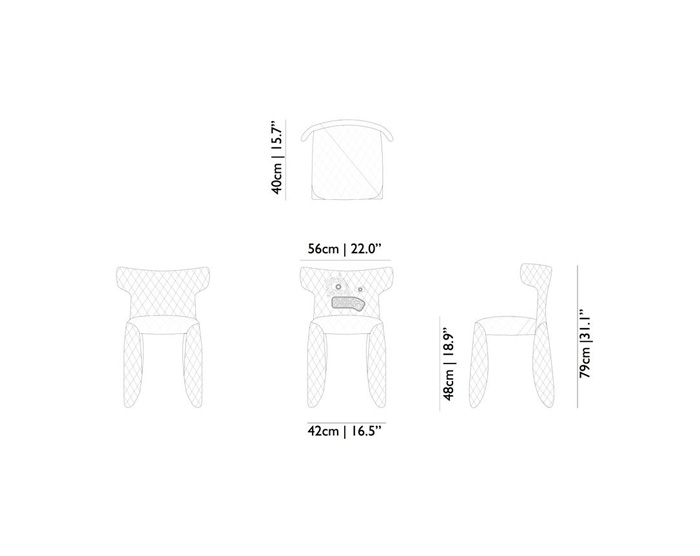 moooi monster chair dimensions