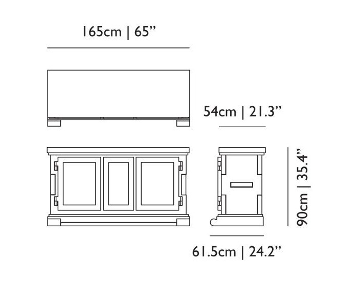 moooi paper buffet dimensions
