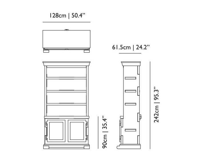 moooi paper cabinet dimensions
