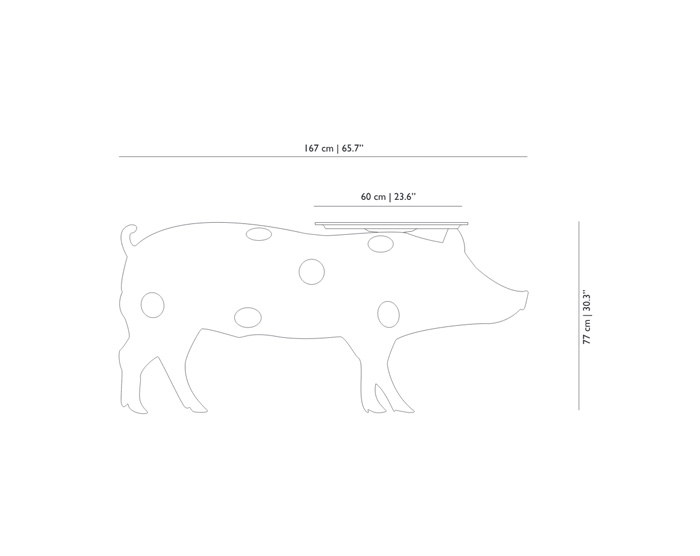 moooi pig table dimensions