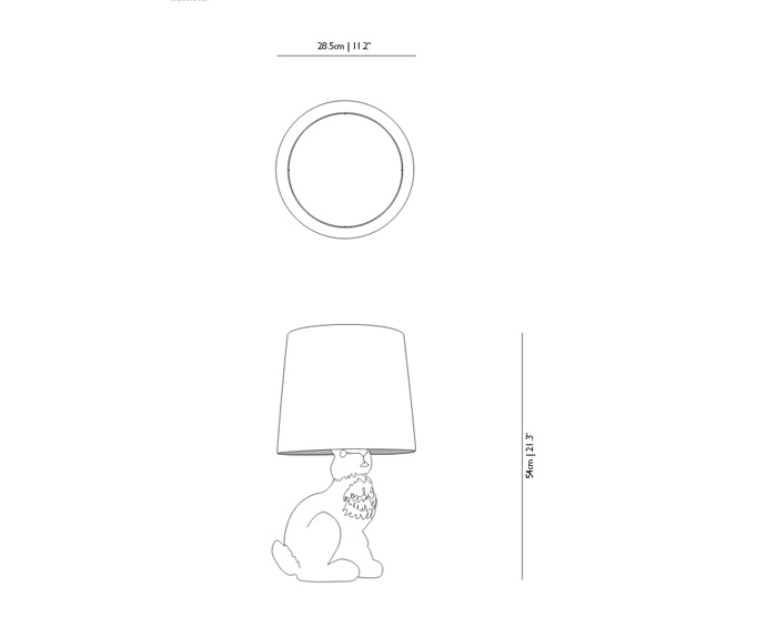 moooi rabbit lamp dimensions