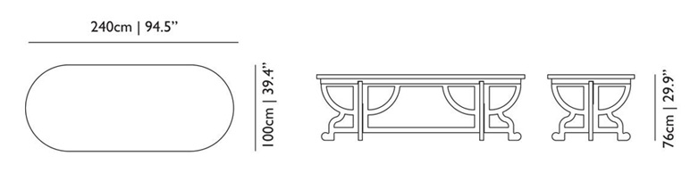 moooi paper table size dimensions