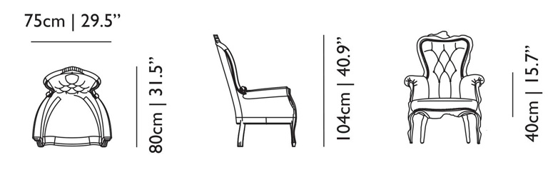 moooi smoke chair size dimensions