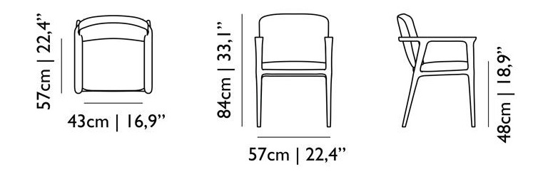 zio dining chair size dimensions