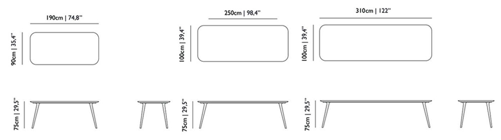 moooi zio dining table size dimensions