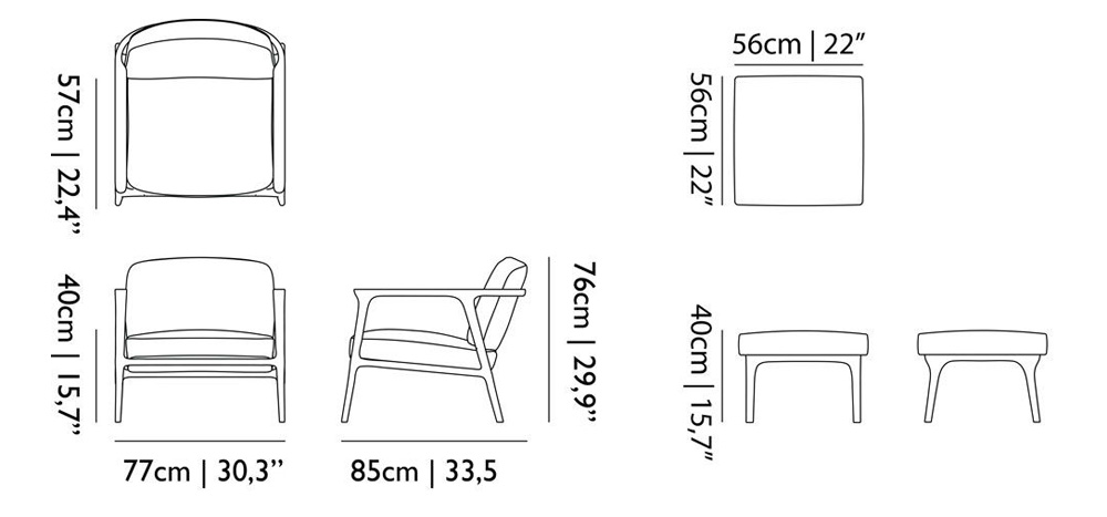 moooi zio lounge chair dimensions