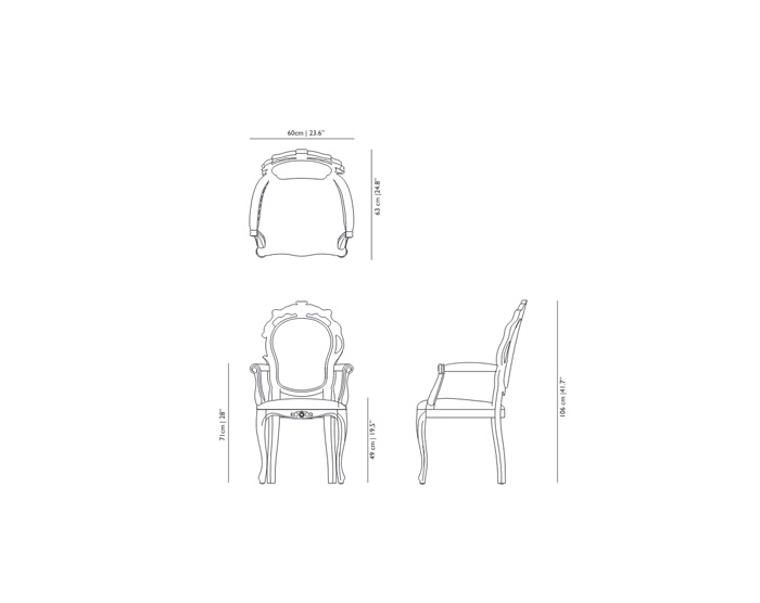 moooi smoke dining armchair dimensions