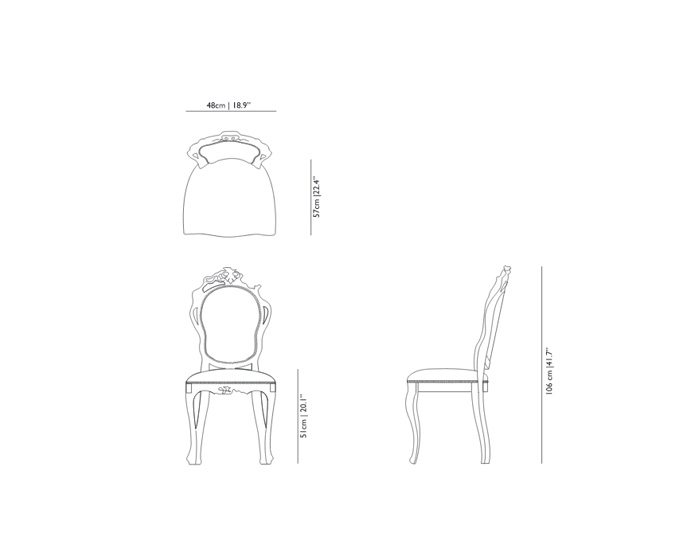 moooi smoke dining chair dimensions