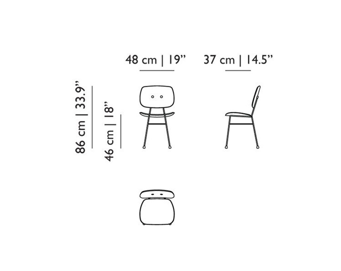moooi the golden chair dimensions
