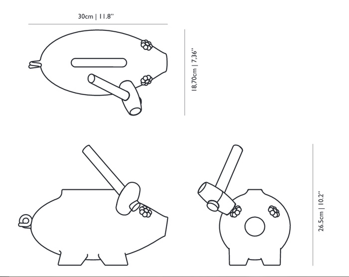 moooi the killing of the piggy bank dimensions